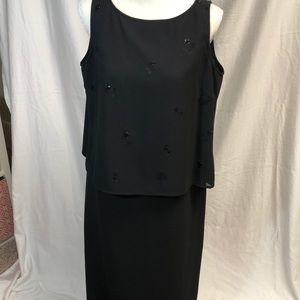 NWOT Gorgeous 2 piece long black Evening dress.